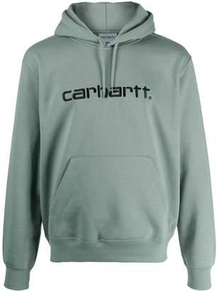 Carhartt WIP logo embroidery hoodie