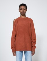 Tibi Cozy Cut Out Shoulder Pullover