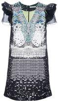 Piccione.Piccione geometric print shift dress