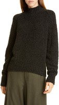 Vince Textured Sleeve Wool, Silk & Cashmere Turtleneck Sweater