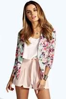 boohoo Kate Pastel Floral Print Tailored Blazer multi