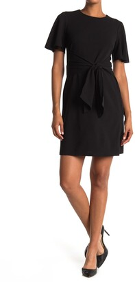 Donna Morgan Flutter Sleeve Waist Tie Dress