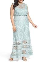 Tadashi Shoji Plus Size Women's Lace Blouson Gown