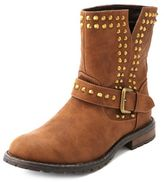 Charlotte Russe Flat Studded Ankle Bootie