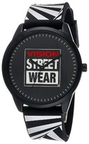 Vision Street Wear Men's Analog Watch - Black with Zebra Strap