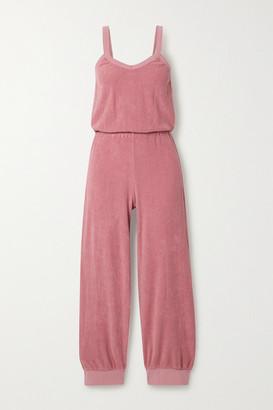 SUZIE KONDI Cotton-terry Jumpsuit - Antique rose