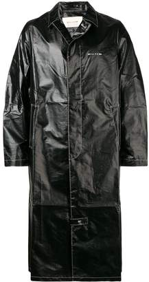 Alyx mid-length faux leather trench coat