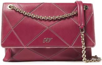 Roger Vivier Leather-appliqued Suede Shoulder Bag