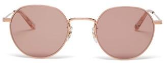 Garrett Leight Robson Round Stainless-steel Sunglasses - Womens - Rose Gold