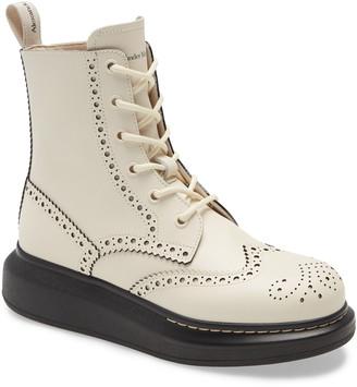 Alexander McQueen Brogue Platform Boot
