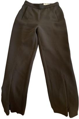 Self-Portrait Black Polyester Trousers