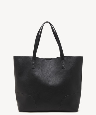 Sole Society Women's Lilyn Tote Fabric Cognac Fabric Vegan Leather From