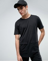 Bellfield Longline T-Shirt With Pockets