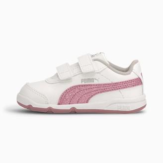Puma Girls' STEPFLEEX 2 SL VE Glitz FS V P Sneaker White-Foxglove-Gray Violet Silver 10 UK
