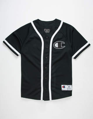 Champion Mesh Black Mens Baseball Jersey