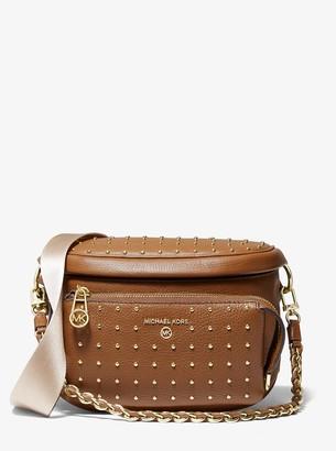 MICHAEL Michael Kors Slater Medium Studded Pebbled Leather Sling Pack
