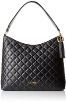Calvin Klein Quilted Leather Hobo Bag