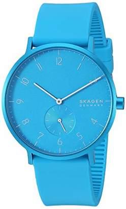 Skagen Men's Aaren Quartz Watch with Silicone Strap