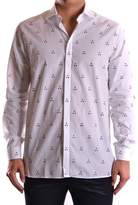 Neil Barrett Men's White/black Cotton Shirt.