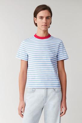 Cos Striped Cotton T-Shirt