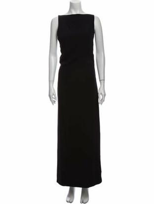 Gianni Versace Silk Long Dress w/ Tags Black