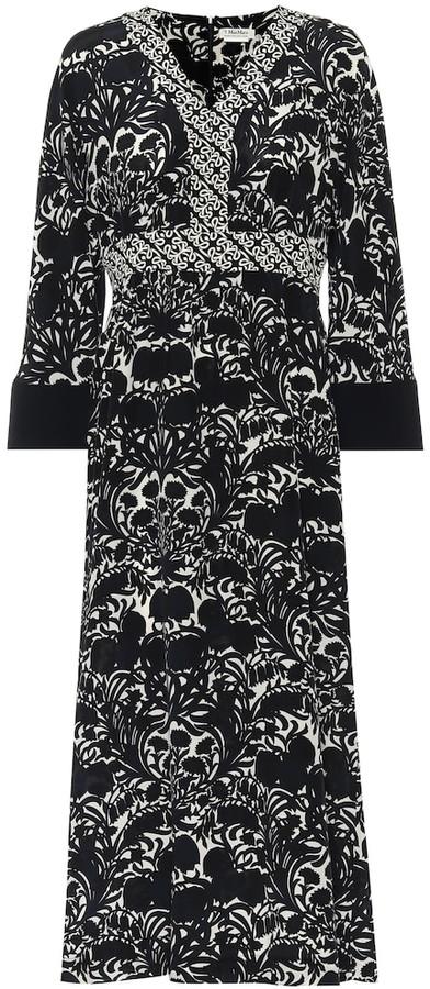 S Max Mara Cicladi printed silk midi dress