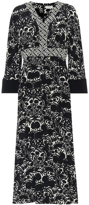 S Max Mara Cicladi printed silk midi dress