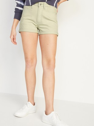 Old Navy High-Waisted O.G. Straight Mineral-Dye Jean Shorts for Women -- 3-inch inseam