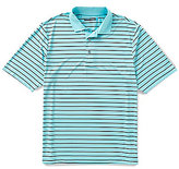 Roundtree & Yorke Performance Short-Sleeve Bart Stripe Polo