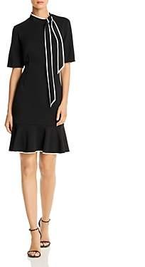 Adrianna Papell Tie-Neck Shift Dress