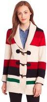 Pendleton Women's Cabin Trail Cardigan Sweater, Vanilla Heather Multi Stripe, Large