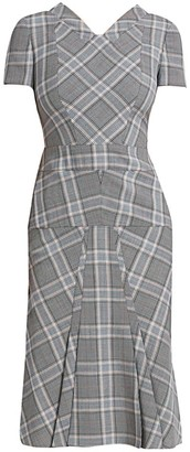Roland Mouret Bowland Plaid Wool Dress
