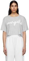 MM6 MAISON MARGIELA Grey Logo Cropped T-Shirt