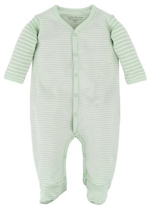 Under the Nile Baby Girl Organic Cotton Front Snap Footie Pajamas