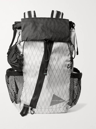 and wander X-Pac Printed Ripstop Backpack - Men - White