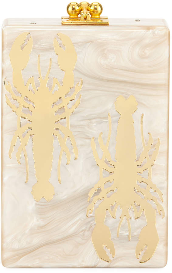 Edie Parker Carol Crayfish Acrylic Clutch Bag