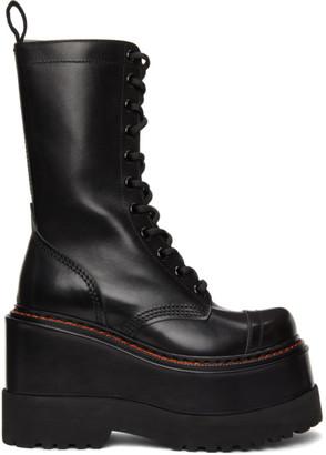 R 13 Black Medium Platform Boots