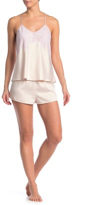 Flora Nikrooz Sleepwear Olivia Satin Camisole & Shorts 2-Piece Pajama Set