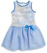 Us Angels Girls 2-6x ?Little Girls Sequined Sleeveless Dropped-Waist Dress