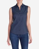 Eddie Bauer Women's Wrinkle-Free Sleeveless Shirt - Print