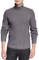 Belstaff Litlehurst Mixed-Knit Turtleneck Sweater