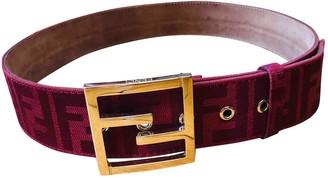 Fendi Red Leather Belts