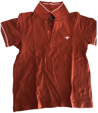 Christian Dior Orange Cotton Tops