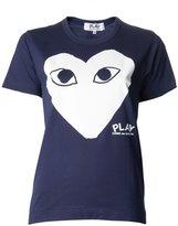 Comme des Garcons heart print T-shirt - women - Cotton - S