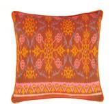 The World In Cushions Orange, Pink & Teal Ikat Cushion From Bali   Dapak Merah