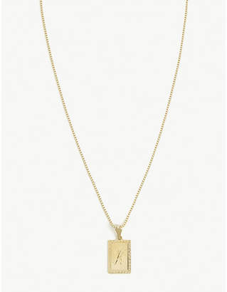 Vanessa Mooney K initial necklace