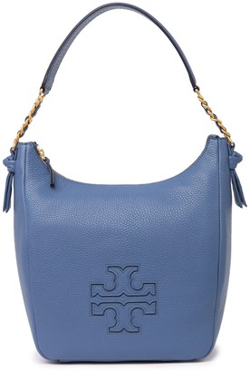 Tory Burch Harper Leather Zip Hobo Bag
