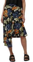 Topshop Floral Print Asymmetrical Skirt