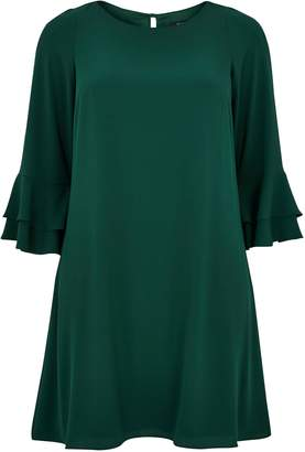 Evans Green Frill Sleeve Dress