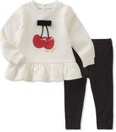 Kate Spade Cherries Sweatshirt W/ Leggings, Size 12-24 Months